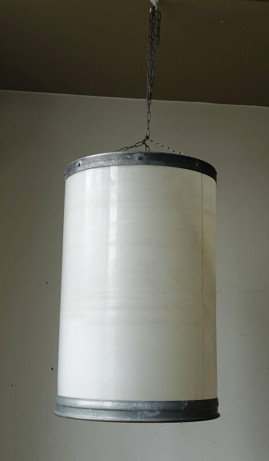 galvanized container light fixture france circa 1940 for. Black Bedroom Furniture Sets. Home Design Ideas