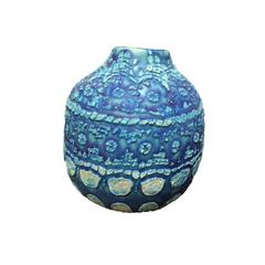 Vintage Inspired Design Blue Vase, Thailand, Contemporary