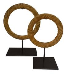 Set Of Stone Rings Sculpture, China, Contemporary