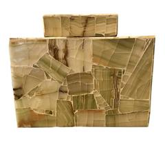 Pieced Onyx Lidded Box, India, Contemporary