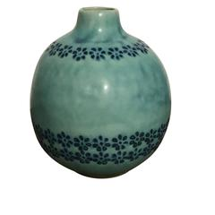 Contemporary Vintage Inspired Design Turquoise Vase, Thailand