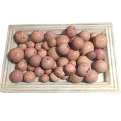 Collection Rose Colored Stone Balls, Brazil, Contemporary