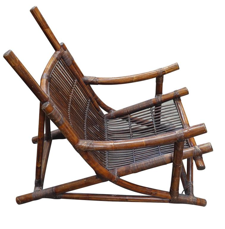 Pair of Bamboo Side Chairs, France, 1940s 2