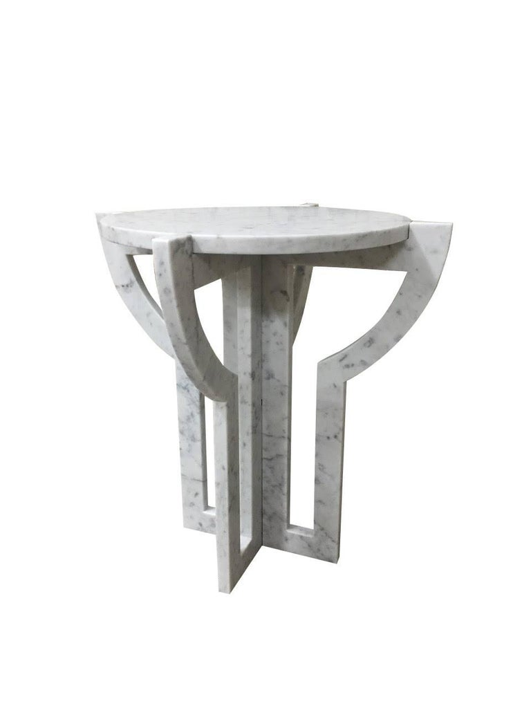 white carrara marble cocktail table italy contemporary for sale at 1stdibs. Black Bedroom Furniture Sets. Home Design Ideas