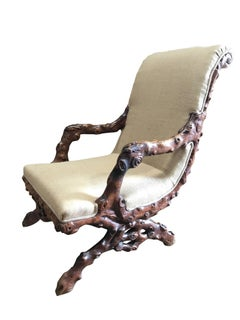 19th Century, English Grotto Chair