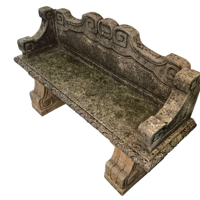 Incredible Vicenza Stone Bench With Back Italy 1920S Frankydiablos Diy Chair Ideas Frankydiabloscom