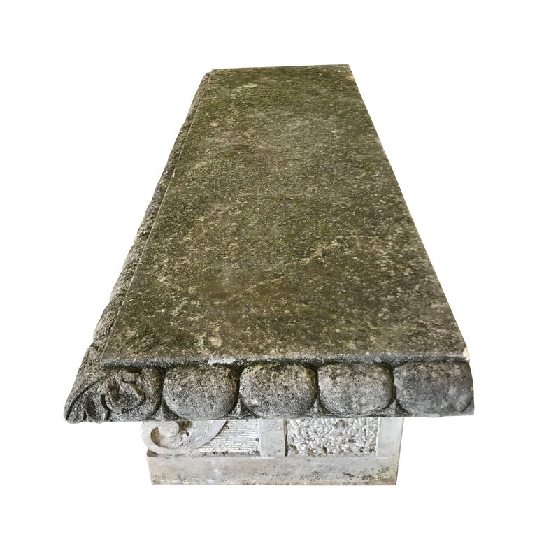 Italian Vicenza Stone Bench, Italy, 1920s For Sale