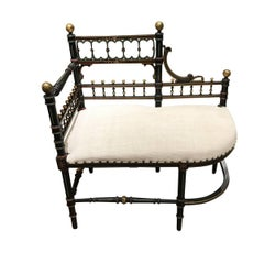 Napoleon III Settee or Bench, France, 19th Century