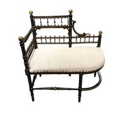 Napoleon III Settee or Bench, France, 19th Century