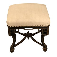 Napoleon III Decorative Foot Stool, France, 19th Century