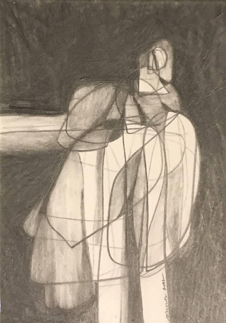 Contemporary American Artist David Dew Bruner Charcoal Drawing 2
