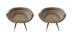 Petite Upholstered Sid Chair, France, Midcentury