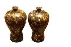 Pair Tortoise Design Vases, China, Contemporary