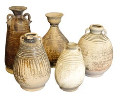 18th Century Collection Of Hand Made Vases, Cambodia