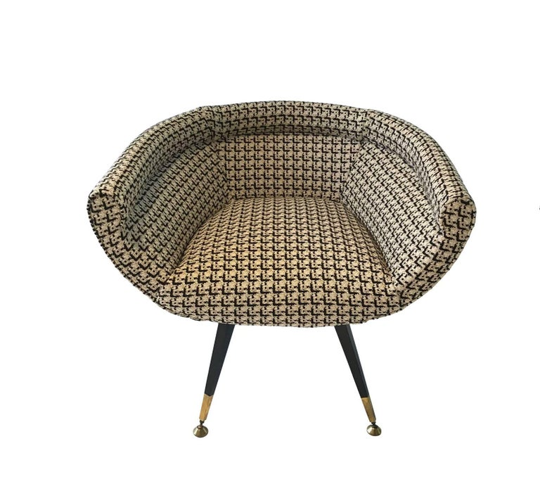 Petite Upholstered Side Chair, France, Midcentury