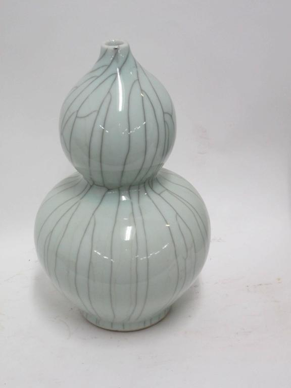 Collection of Pale Blue Crackle Vases, China, Contemporary For Sale 1