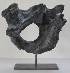 Prehistoric Black Stone Vertical Sculpture