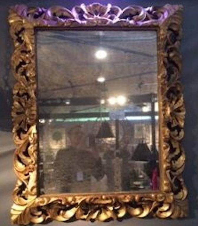 Ornately Carved Gold Giltwood Mirror, France, circa 1830 For Sale 3