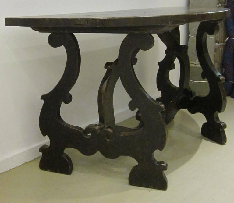 18th Century Pair of Demilune Refectory Tables, Italy 4