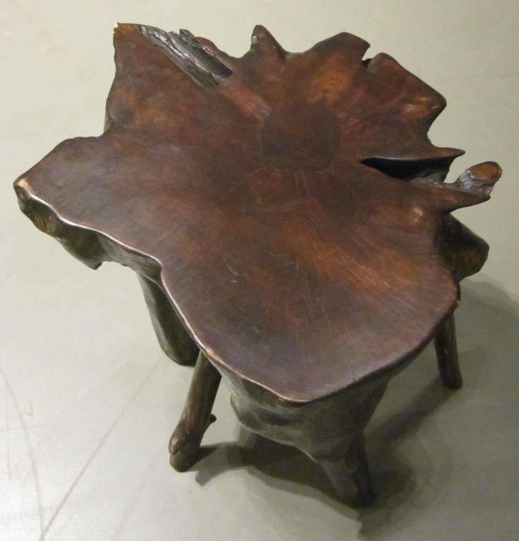 Indonesian Lychee Wood Five-Leg Cocktail Table, Indonesia, Contemporary For Sale