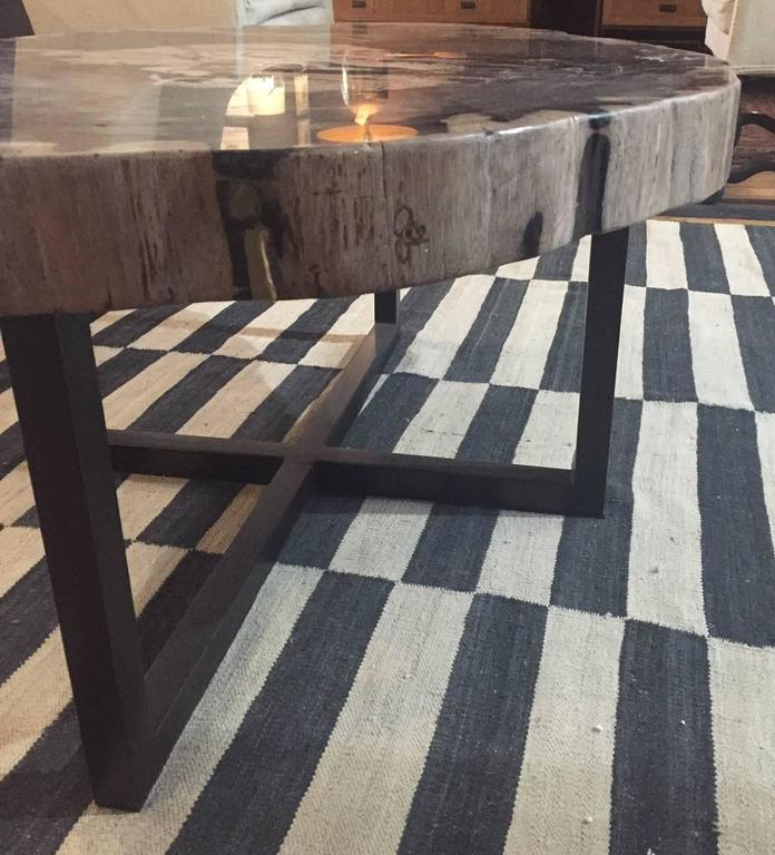 Petrified Wood Extra Large Extra Thick Coffee Table Indonesia
