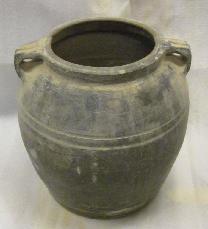 "Late 20th century Chinese charcoal terra cotta food vessels. An assortment of sizes and shapes are available and sold individually. Sizes range from medium to extra extra large. Measurements are: XXL  16"" to 17"" tall             17"" to 18"" diameter"