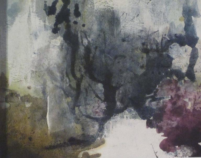 Abstract Vegetable Pigment Painting by Belgian Artist Isabelle Rousseau In Excellent Condition For Sale In New York, NY