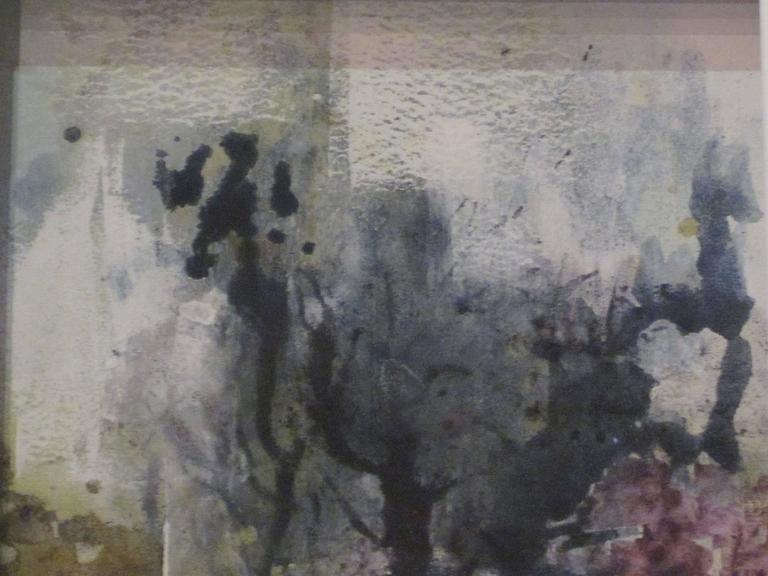 Contemporary Abstract Vegetable Pigment Painting by Belgian Artist Isabelle Rousseau For Sale