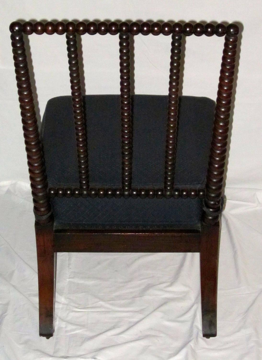19th century armless bobbin chair upholstered seat england for sale