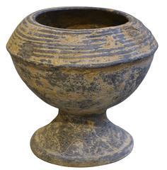 18th Century Weathered Black Vase, Cambodia