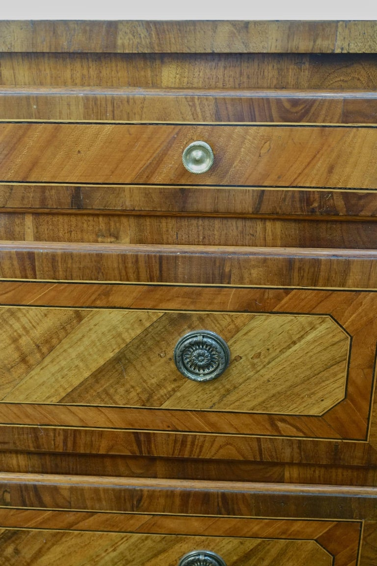 Three-Drawer Inlay Commode, Italy, 19th Century In Excellent Condition For Sale In New York, NY