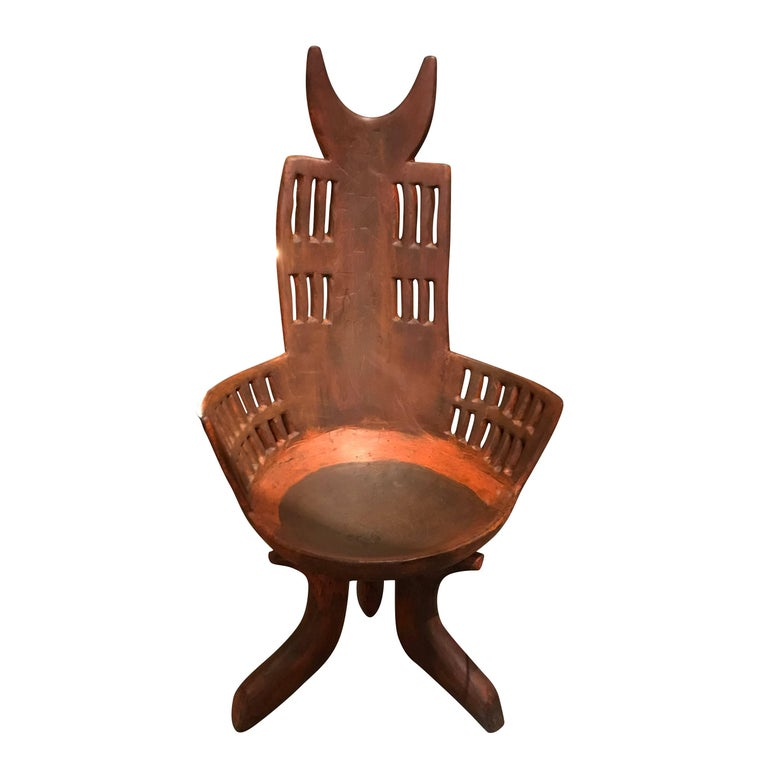 Ethiopian Wooden Chair, Africa, 19th Century