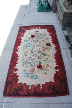Late 19th Century American Hooked Rug From the Estate of Bunny Mellon