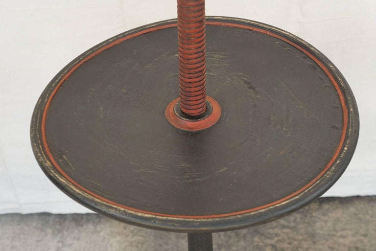Vintage Colonial Style Adjustable Candlestand Table 5