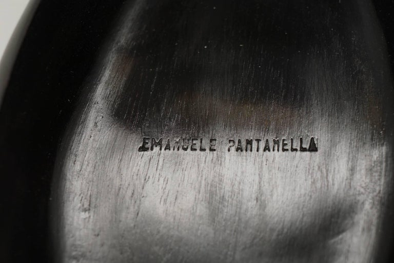 Emanuele Pantanella Minaudiere in Carved Ebony, Rock Crystal and 18-Carat Gold For Sale 1