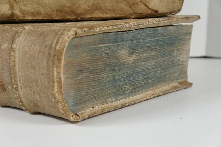 Four 18th Century Vellum Covered Latin Books For Sale 1