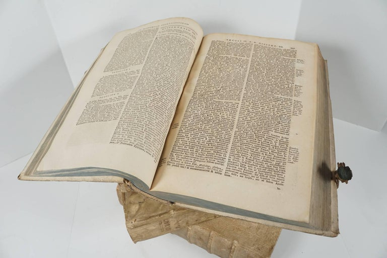 Four 18th Century Vellum Covered Latin Books For Sale 4