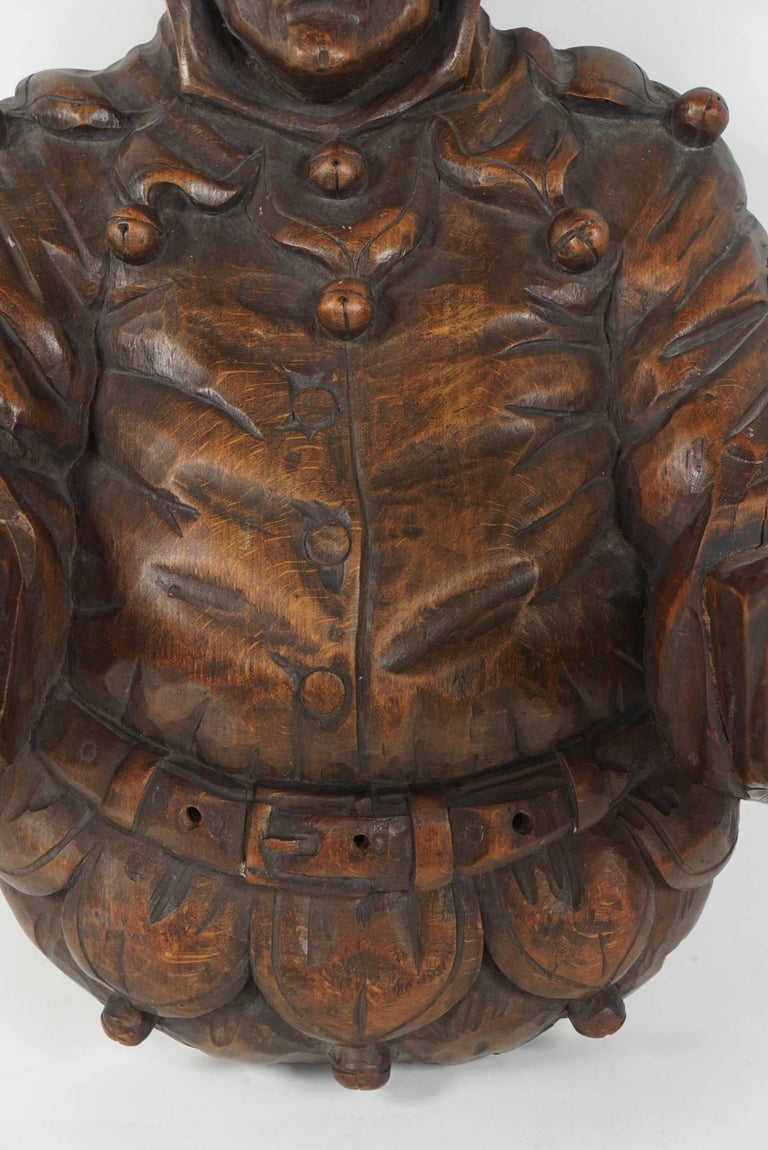 Regency Revival Italian Late 19th Century Large Carved Wood Wall Sconce For Sale