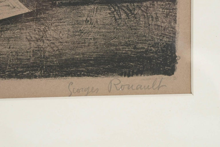 French Pencil Signed and Numbered Rouault Lithograph