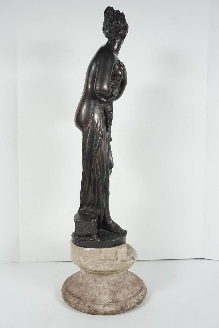 Late 19th Century Bronze Statue of Venus For Sale 2