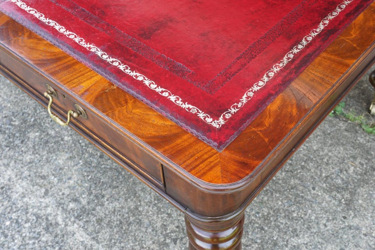 Early 20th Century English Edwardian Writing Table in the Regency Taste For Sale