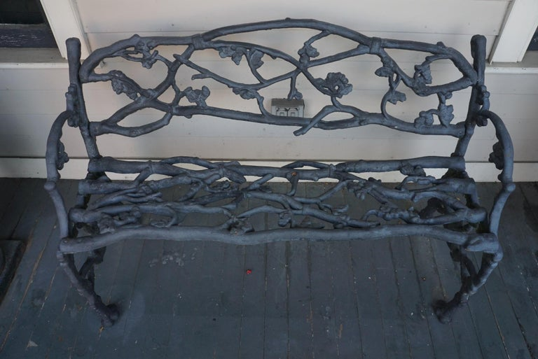 Mid-19th Century English Iron Garden Bench For Sale 3