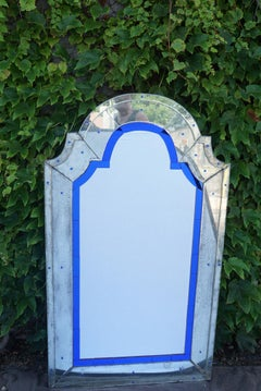 Vintage Art Deco Modernist Venitian Mirror