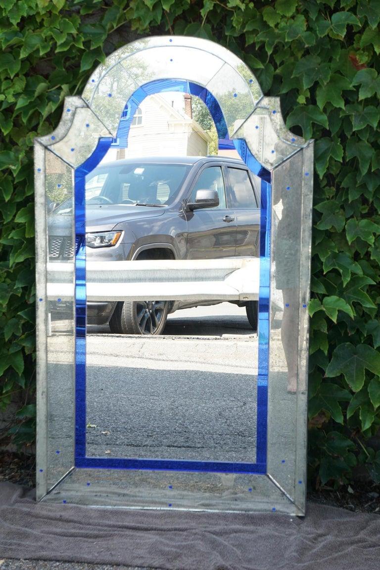 Vintage Art Deco Modernist Venetian Mirror For Sale 2