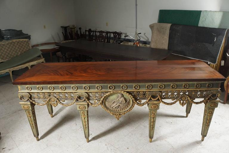 Gilt Large and Important Louis XVI Style Console Table from Blairsden House For Sale