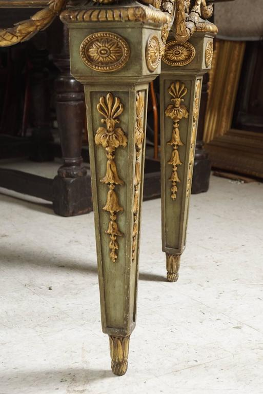 Ebony Large and Important Louis XVI Style Console Table from Blairsden House For Sale
