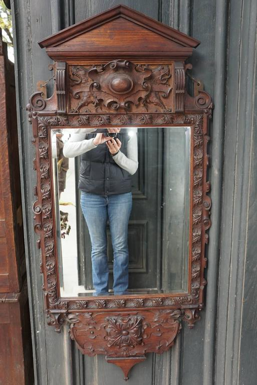 Victorian Carve Oak Mirror in the Georgian Taste 2