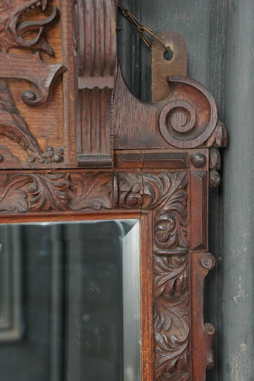 Victorian Carve Oak Mirror in the Georgian Taste 4