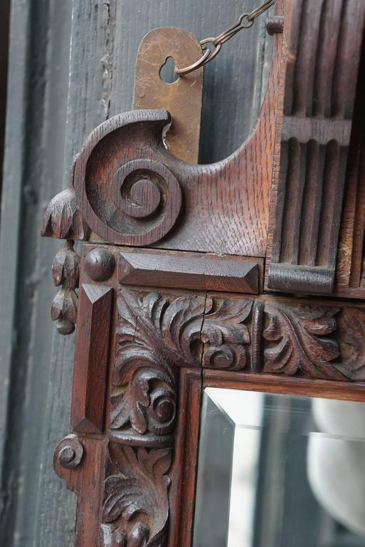 Victorian Carve Oak Mirror in the Georgian Taste 10