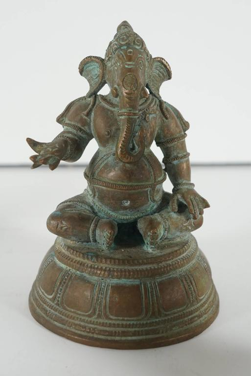 Collection of Five Indian Cast Bronze Figures of Ganesha 6